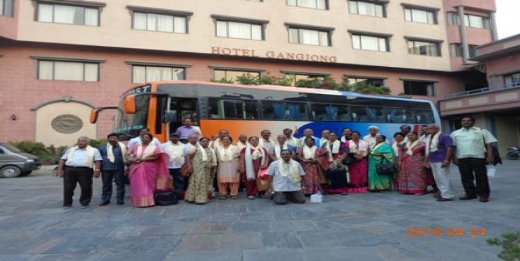 Sundaramoorthy Coimbatore Group of 35 Person Nepal Tour April 2018