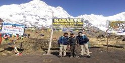 Vivian George & Mohamad Ashkar Annapurna Base Camp Trek Singapore May 2018
